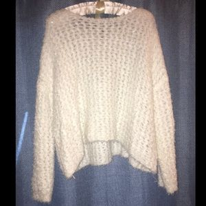 Trendy Oversized Loose Knit Fluffy Sweater